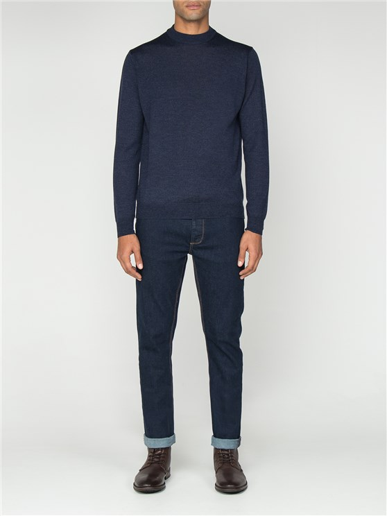 Navy Turtle Neck Jumper