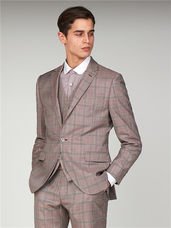 Bermondsey Pink Check Slim Fit Suit