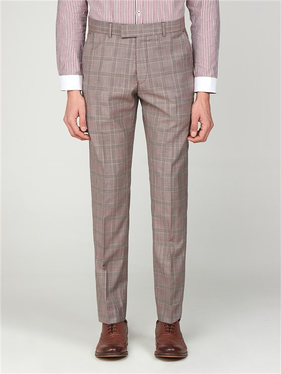 Bermondsey Pink Checked Slim Fit Trousers