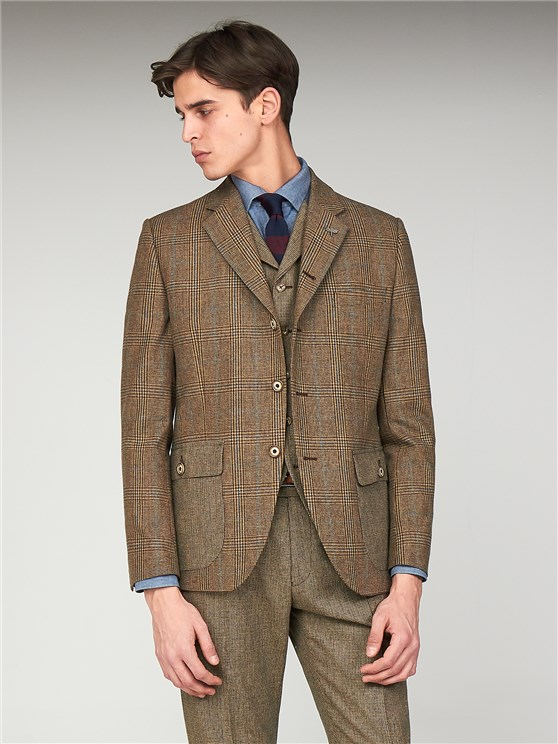 The Bakerloo Special Men's Tailored Fit Checked Grouse Jacket