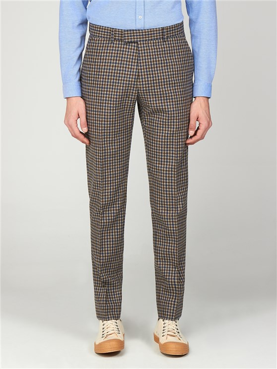 The Regent St. Men's Gingham Slim Fit Trousers