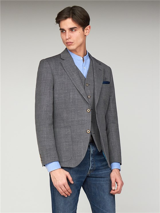 Titus Grey Basket Weave Jacket