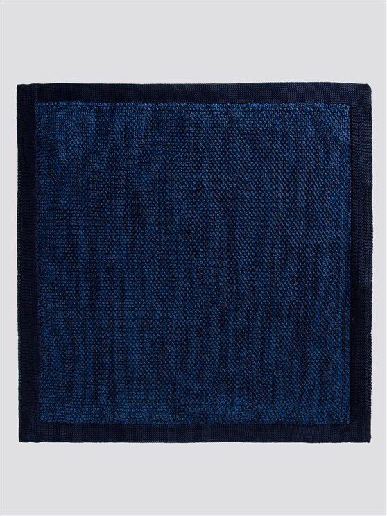 Two Tone Blue Knitted Handkerchief
