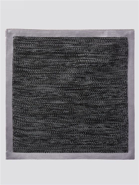 Two Tone Charcoal Knitted Handkerchief