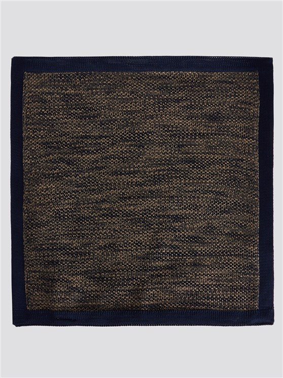 Two Tone Navy Knitted Handkerchief