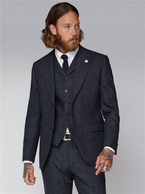 Clerkenwell Men's Midnight Speckle Suit
