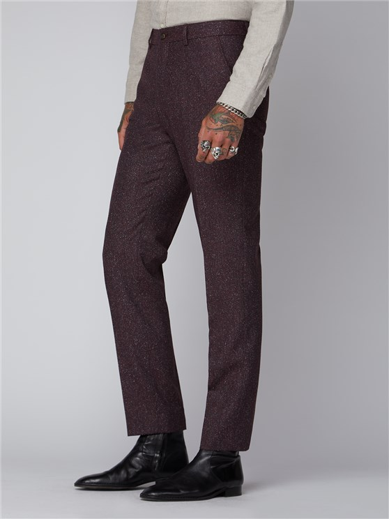 Hayling Berry Red Speckle Trousers