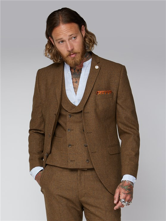 Stroudley Gold Puppytooth Suit
