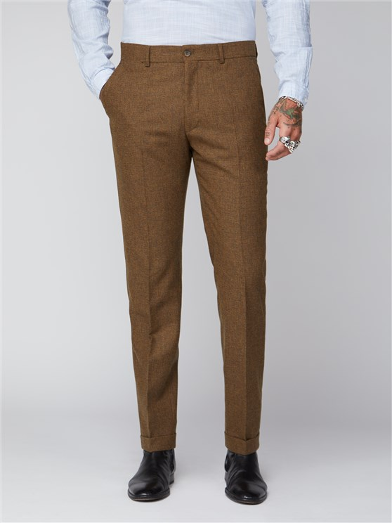 Stroudley Gold Puppytooth Trousers