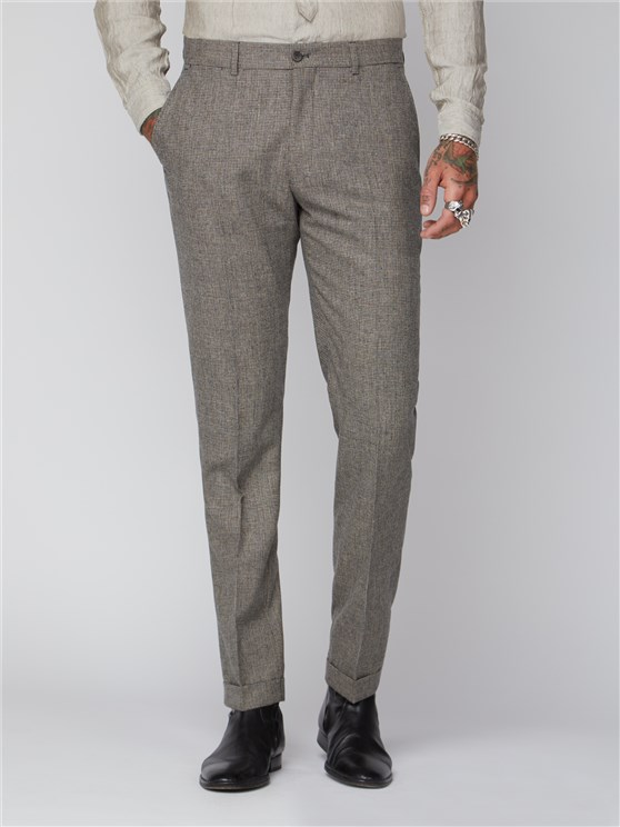 Regent St. Puppytooth Slim Fit Trousers