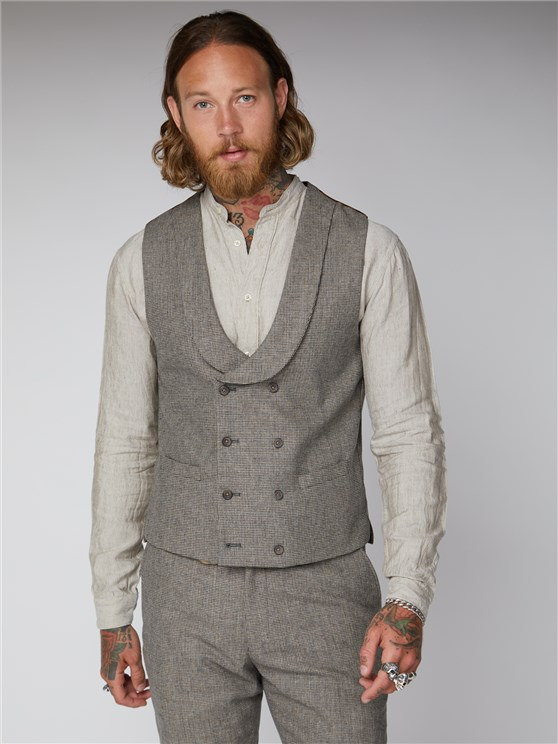Regent St. Puppytooth Double Breasted Waistcoat