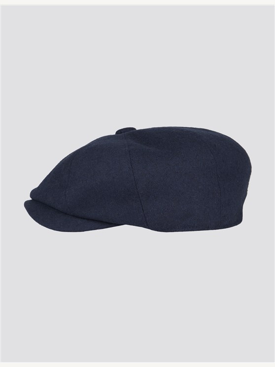 Navy Melton Hat