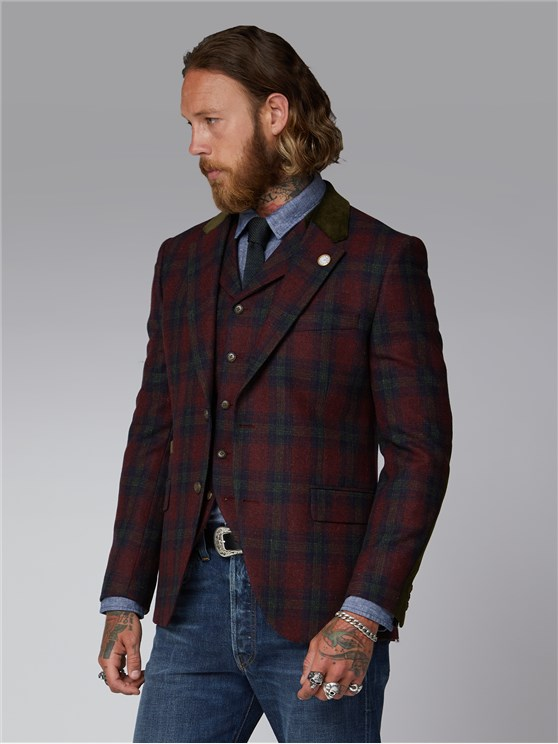 Kerr Red & Green Tartan Jacket