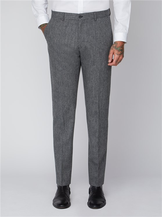 Grey Plain Trousers