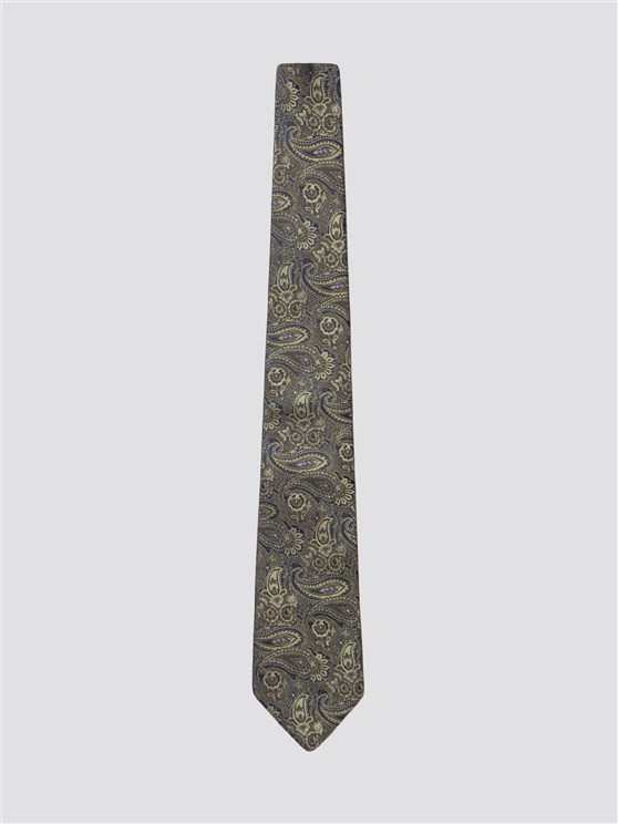 Green Retro Paisley Men's Tie