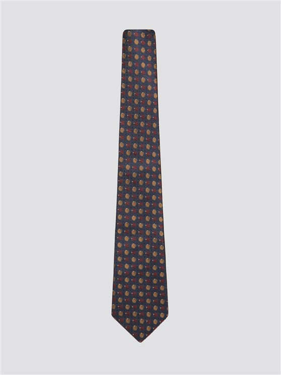 Navy Shell Design Tie