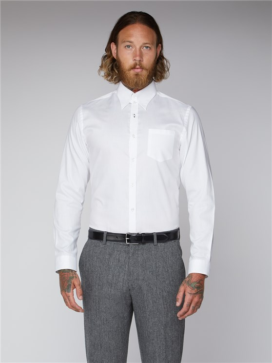 White Plain Oxford Weave Shirt