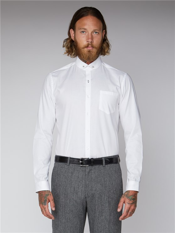 White Plain Oxford Pin Shirt