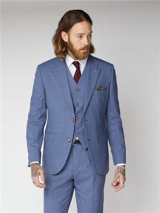 Halpin Plain Pale Blue Suit Jacket