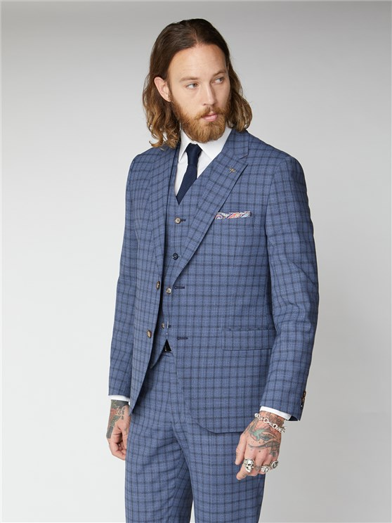 Dovey Blue Check Suit