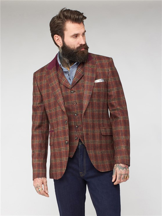 Barclay Orange Check Jacket