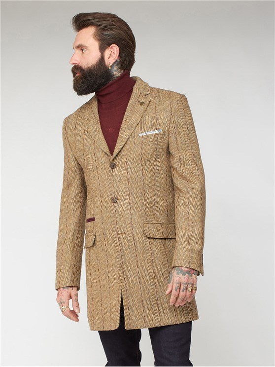 Archibald Gold Herringbone Coat