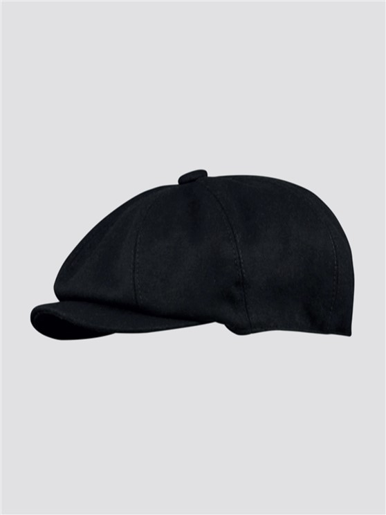 Black Wool Melton Hat