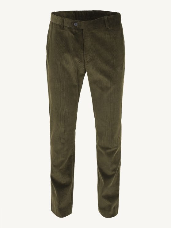 Dark Olive Cord Trousers