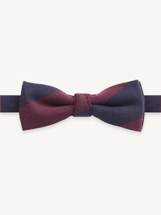 Navy Stripe Bow tie- currently unavailable
