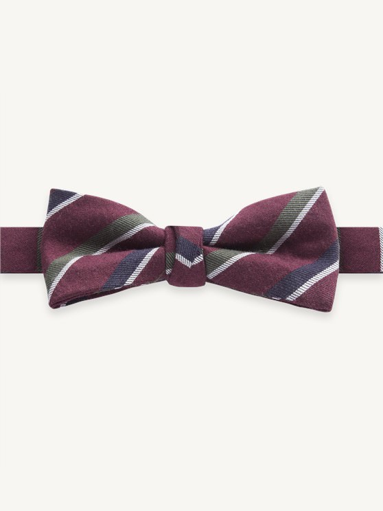 Wine Stripe Bow tie- currently unavailable