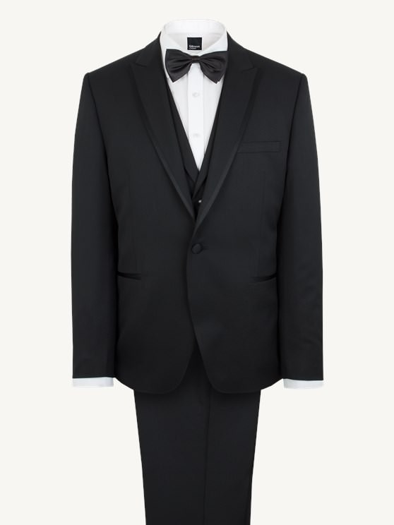 Black Dinner Jacket with Satin Contrast Peak Lapel
