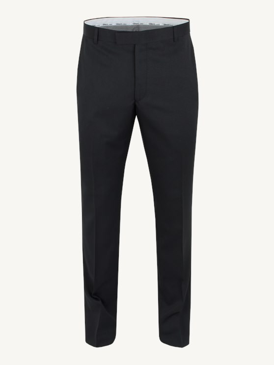 Black Twill Slim Fit Trousers