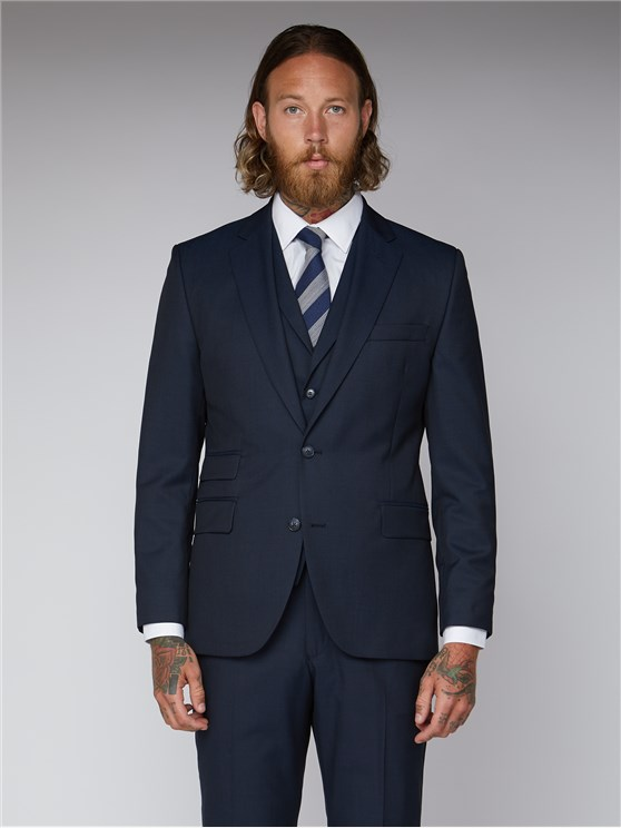 Navy Twill Tailor Fit Suit
