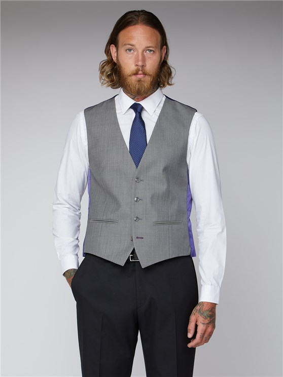 Silver Grey Vest with back strap and buckle