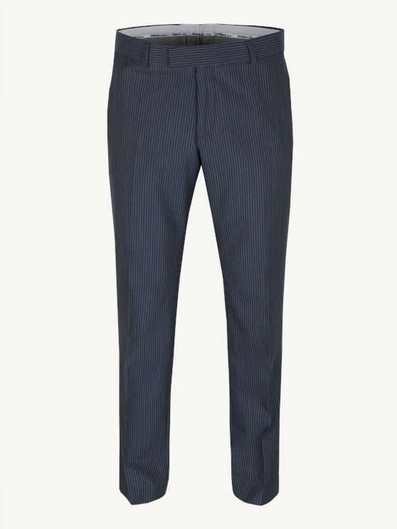 Charcoal, Blue Striped Trouser