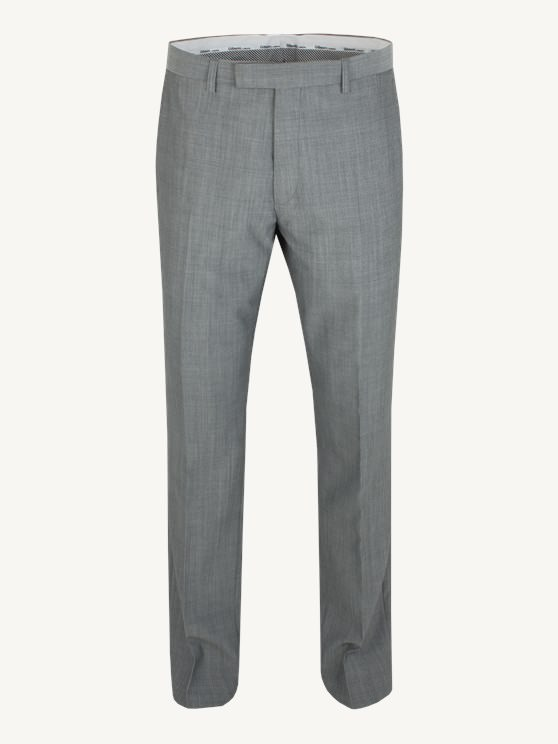 Silver Grey Slim Fit Suit Trouser