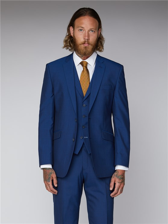 Royal Blue Tailored Suit Jacket