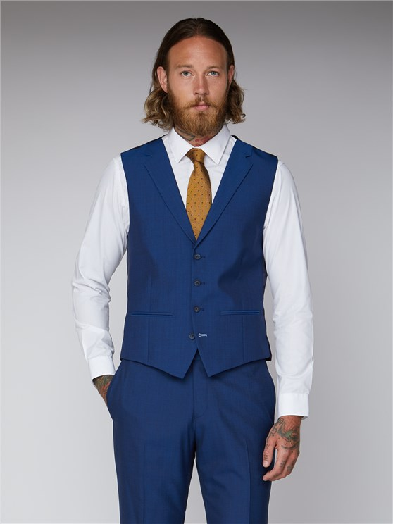 Royal Blue Tailored Waistcoat