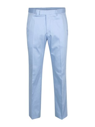 Pale Blue Cotton Trouser