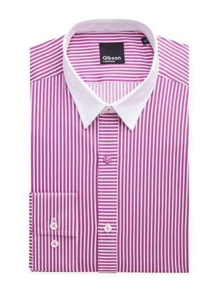 Rose Candy Stripe Shirt