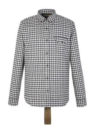 Charcoal Check Flannel Shirt