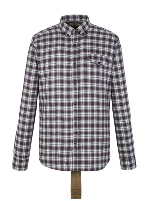 Berry Check Flannel Shirt