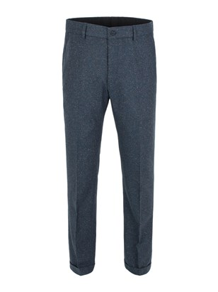 Teal Donegal Plain Front Trouser