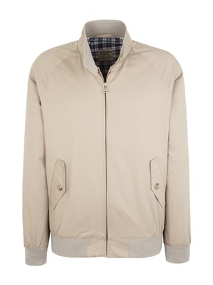 Stone Cotton Harrington Jacket