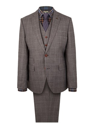 Grey Flannel Check Suit