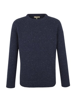 CREW NECK SWEATER WITH DONEGAL FLECK