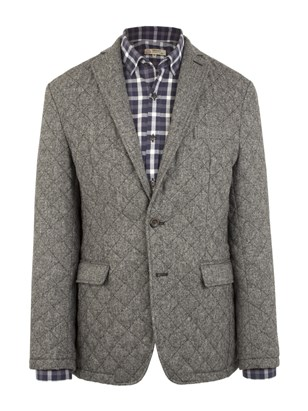 Grey Donegal Quilted Jacket