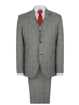 Grey Multi Check Suit