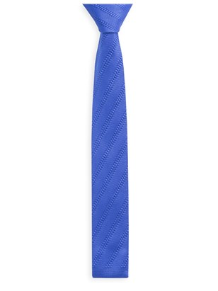 Cobalt Diagonal Knitted Tie