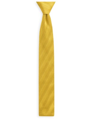 Gold Diagonal Knitted Tie